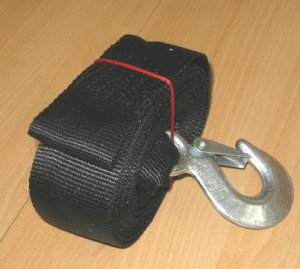 "NEW Boat Trailer Winch Hand Strap 2""x 20' Hook+Sewn Eye free ship to usa canada"