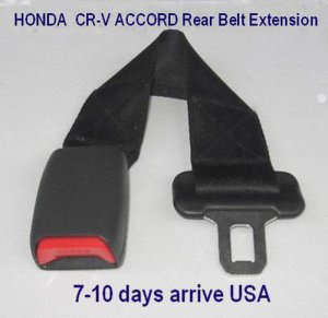 "Seat Belt Extension For HONDA  CR-V  ACCORD Rear Seat 1"" Wide Buckle free ship to USA"