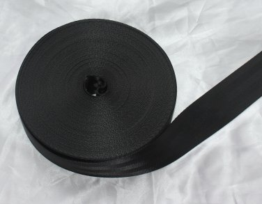 """20 meter ROLL 2"""" SEAT BELT SAFETY STRAP WEBBING Black"""