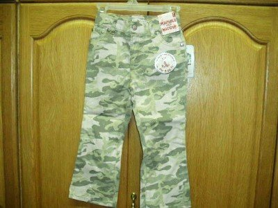 GIRLS LEVI PINK CAMO STRETCH FLARE JEANS  4T ~~ NWT
