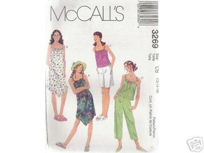 GIRLS DRESS, TOP, CAPRI PANTS & SHORTS McCALL'S PATTERN