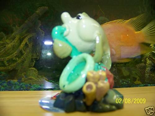 Aqua Toons TOOT-N TUNA Decoration for aquariums NEW