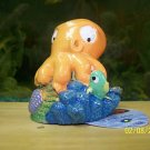 Aqua Toons ORANGE OCTOPUS Decoration for aquariums NEW