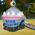 Aqua Toons GONE FISHING Decoration for aquariums NEW