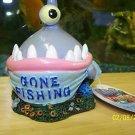 Aqua Toons GONE FISHING Decoration for aquariums NEW