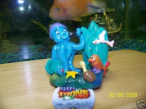 Aqua Toons SINGING SQUID Decoration for aquariums NEW