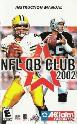 NFL QB Club 2002 ( Xbox) INSTRUCTION MANUAL no game