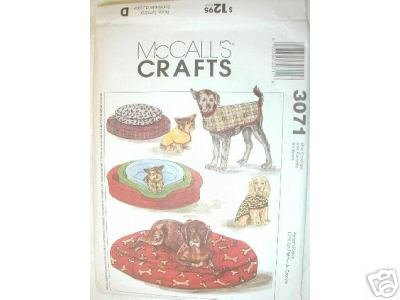 Dog coat, Dog bed & bed cover 3 SIZES  McCALL'S PATTERN