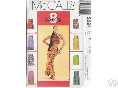 MISSES' WRAP SKIRT- 2 lengths   McCALL'S PATTERN