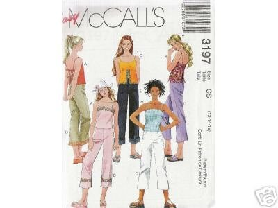 GIRL'S LINED TOPS AND CROPPED PANTS McCALL'S PATTERN