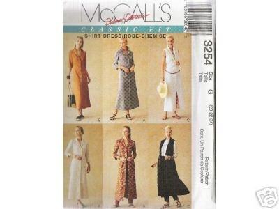 Button down shirt-dress    McCALL'S PATTERN