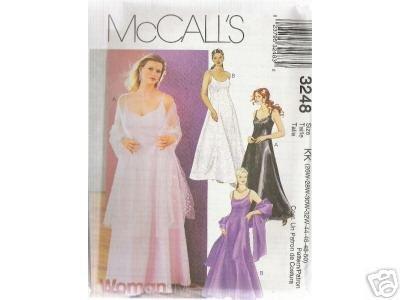 WOMEN'S LINED DRESS & STOLE    McCALL'S PATTERN  26-32W