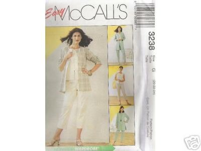 SHIRT-JACKET, TOP  AND PANTS 2-lengths McCALL'S PATTERN