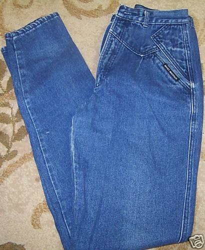 Womens Rockie Mountains Jeans 26 x 34  Blue ~front yolk