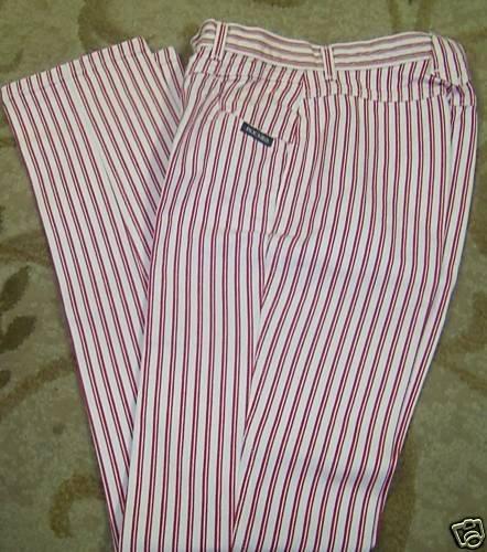 Womens Rockie Mountain Jeans 27/5 x36  Red/White Stripe