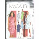 DRESSES W/GATHERED NECKLINE CUT TO FIT McCALL'S PATTERN