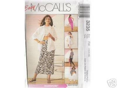 SHIRT-JACKET, TOP AND PANTS  McCALL'S PATTERN 18-22