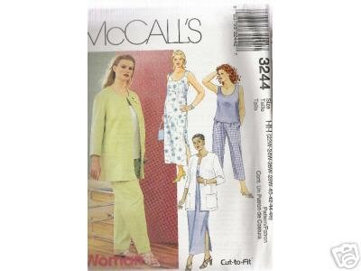 WOMEN'S JACKET, DRESS, TOP & PANTS McCALL'S PATTERN 22-