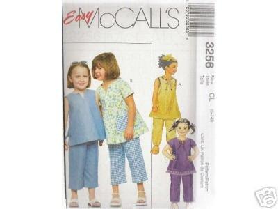 CHILDREN'S GIRLS' TOP 2-lengths  McCALL'S  PATTERN 6-8