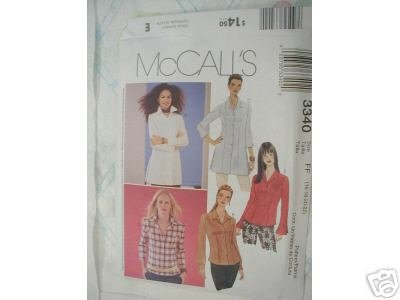 MISSES' PETITE SHIRT IN 2 LENGTHS McCALL'S PATTERN 8-14