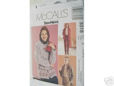 MISSES UNLINED JACKET AND PANTS  McCALL'S PATTERN 14-18
