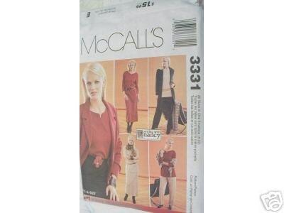 Jacket-Dress-Tops-Pullon Pants-Skirt  McCALL'S PATTERN