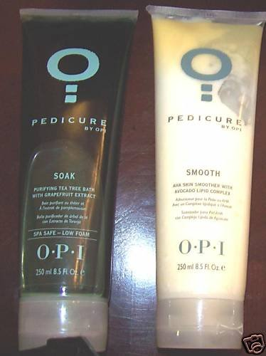 2 OPI - Pedicure 1-SOAK  1-SMOOTH  *NEW*  8.5oz EACH