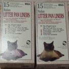 2 - 15 Pk Dockocil heavy-duty Litter Pan Liners MEDIUM