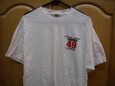 White LADDER 49 John Travolta T-Shirt Adult Large NEW