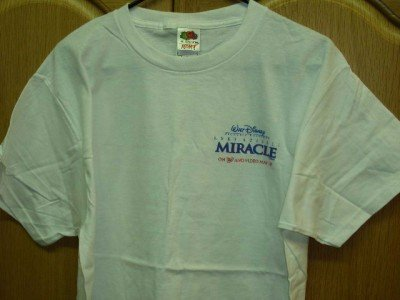WHITE Walt Disney MIRACLE T-Shirt Adult Large NEW