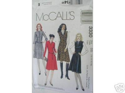 MISSES' DRESS OR JUMPER  PATTERN McCALL'S 16-22