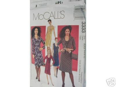 BIAS DRESS- SKIRT & TOP  PATTERN McCALL'S 12-18