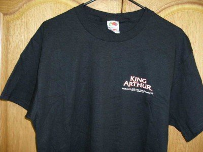 Black KING ARTHUR Promotional T-Shirt Adult Large NEW