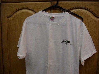 White THE ALAMO Promotional T-Shirt Adult Large NEW FOL