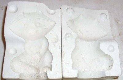 SMALL CERAMIC MOLD ~ RACOON ~ DECORATIONS