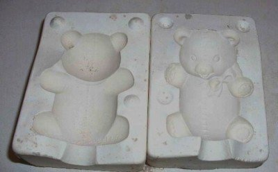 SMALL CERAMIC MOLD ~ TEDDY BEAR ~ DECORATIONS