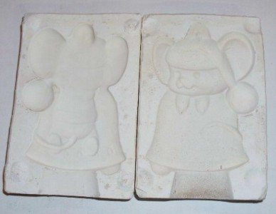 1970 CERAMIC MOLD ORNAMENT ~ MOUSE ON BELL ~