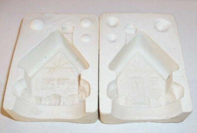 1970s CERAMIC MOLD CHRISTMAS HOUSE ORNAMENT / BELL