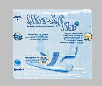 16 Medline Adult Briefs Ultra Soft Plus - Med ~