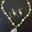 60s Retro Sunshine Necklace and Earring Set