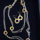Golden Links Necklace and Earring Set