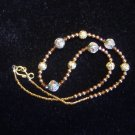 Delicate Cloisonné and Swarovski Necklace and Earring Set