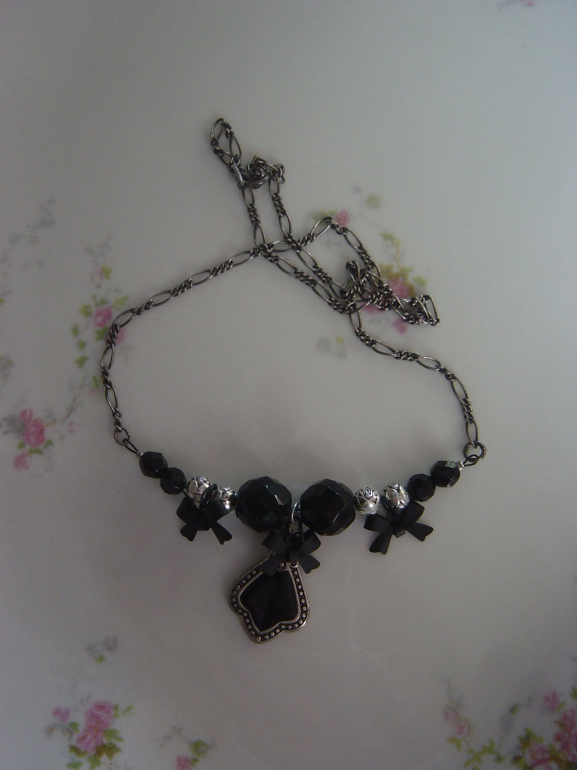 Black Bows and Pendant