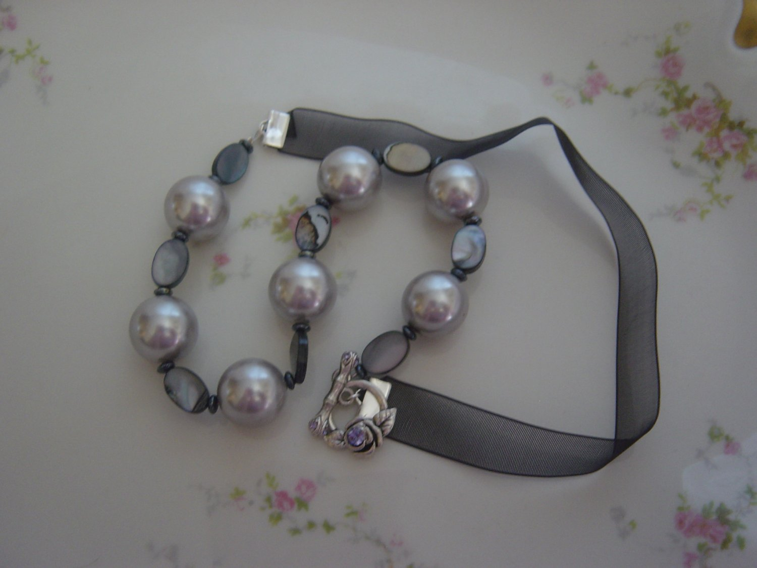Grey and Blue Pearls