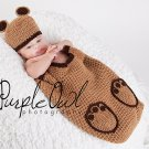 Baby Brown Bear Cocoon - Photography Prop - Any Color