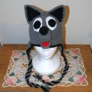 Wolf - Husky puppy earflap beanie hat - any color combo for any dog