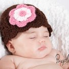 Shell Flower Beanie - Any Color - Any Size - Photography Prop