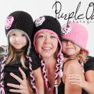 Custom Skull Earflap Beanies - Any Size - Any Color Combo