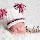 Tassle or Pom Pom pia hat - any size - any color combo