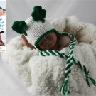 Crochet Pattern 013 - Shamrock Earflap Beanie - All Sizes